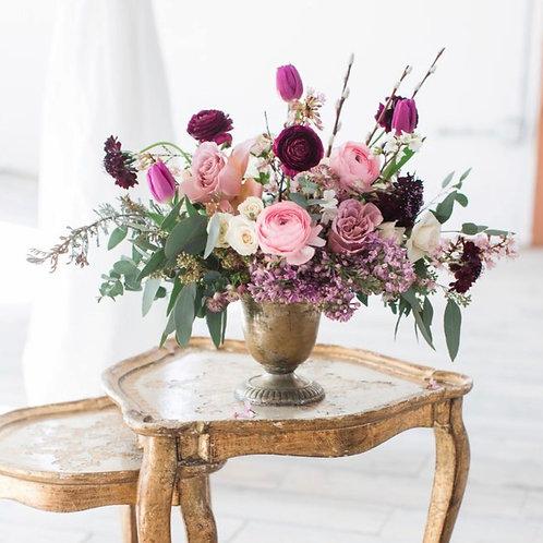 Свадебные букеты на столы гостей