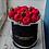 Пионовидные розы Ред Пиано в коробке