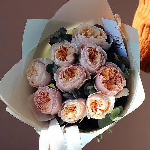 Букет из пионовидных роз Джульета