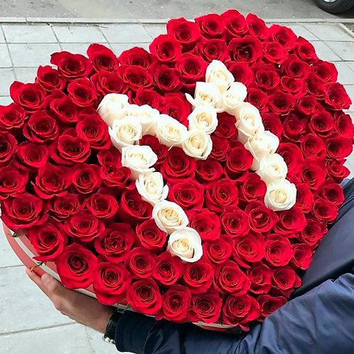 букет роз с буквами