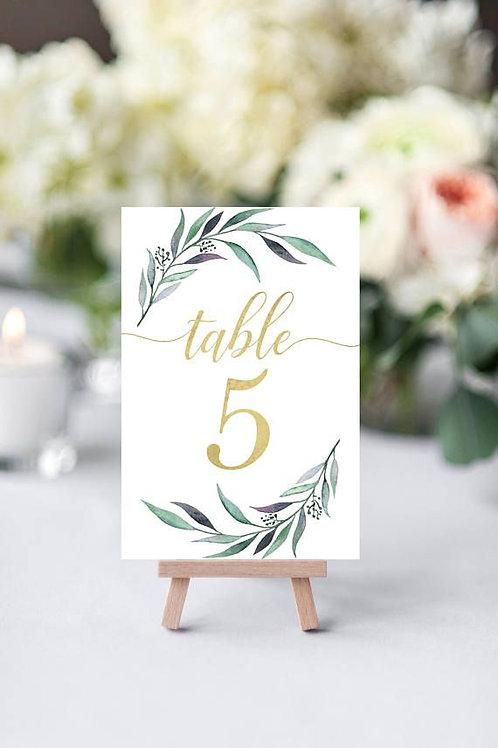 Нумерация столов на свадьбу