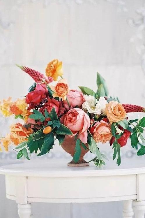 Цветы для столов на свадьбу