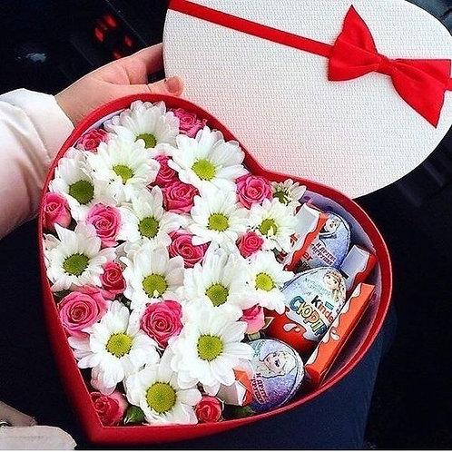 букет цветы и сладости