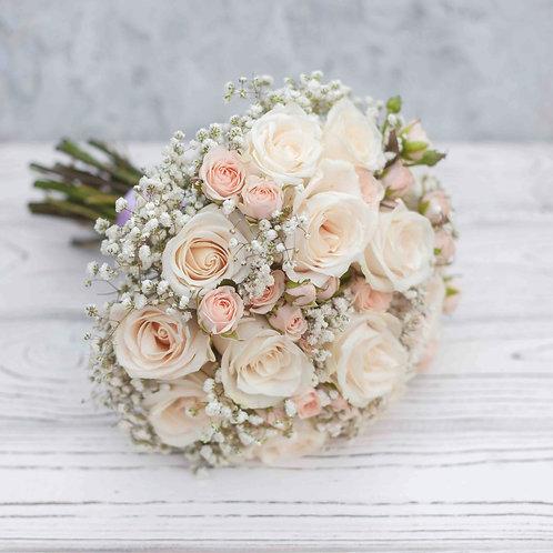 Пудровый свадебный букет