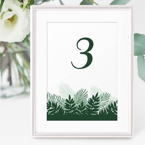 Нумерация столов с зеленью