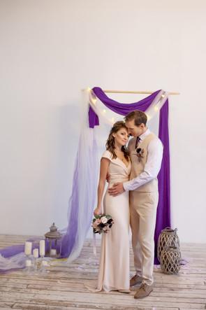 студийная свадебная фотосессия