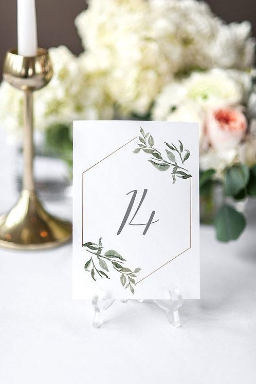 Номерки столов на свадьбе