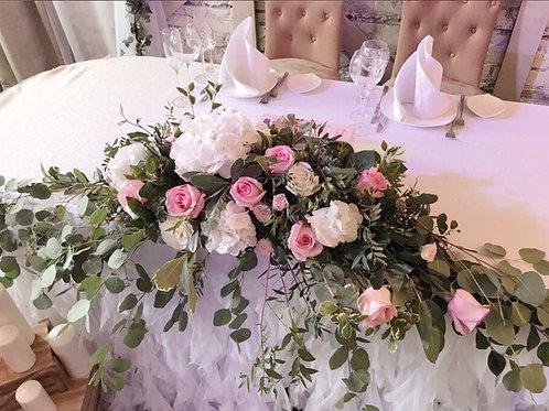Цветочная композиция в розовых оттенках