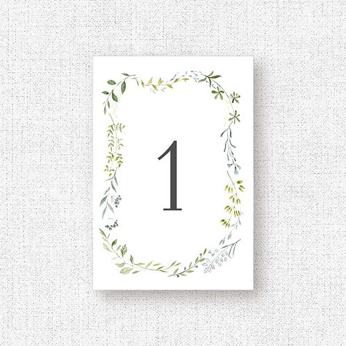 Номера столов свадьба