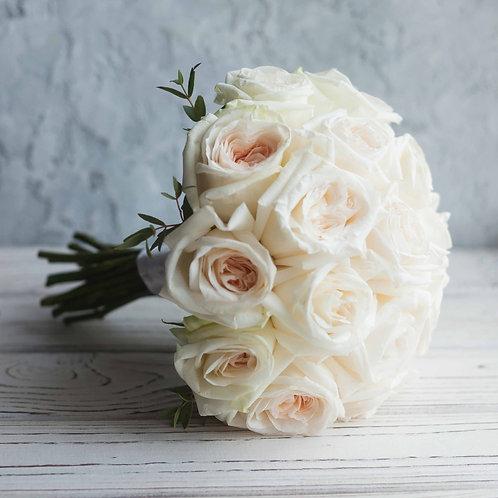 Букет невесты из пионовидных роз Вайт Охара