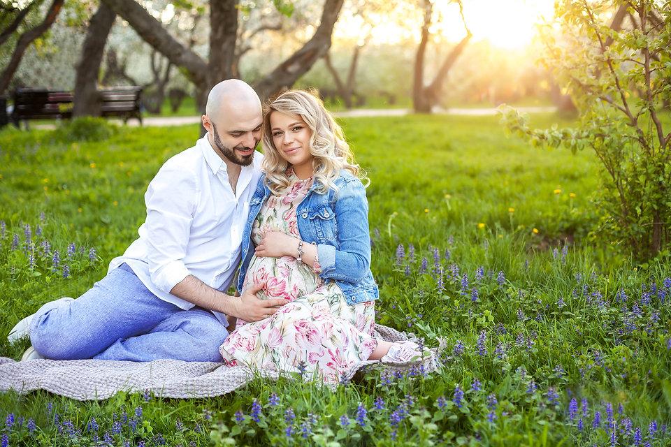 фотосессия +для беременных на природе москва