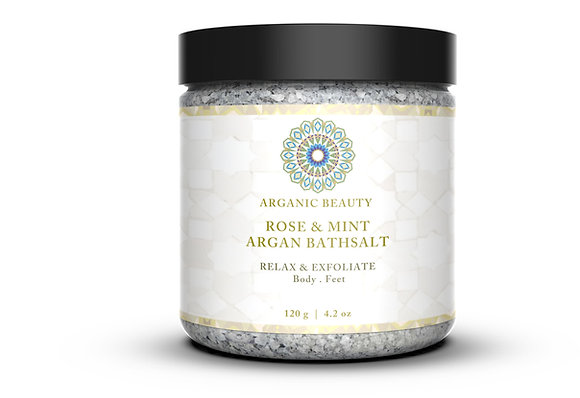 Rose & Mint Argan Bath Salt - 120 g
