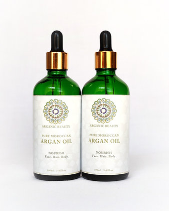100 ml Organic cosmetic Argan oil (Twin pack)