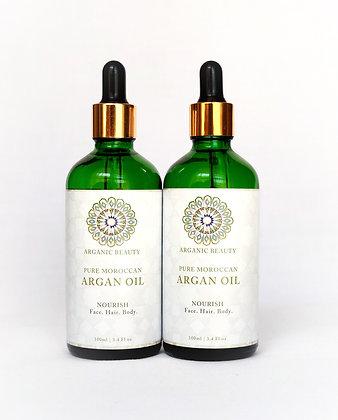 Organic cosmetic Argan oil (Twin pack) - 100 ml
