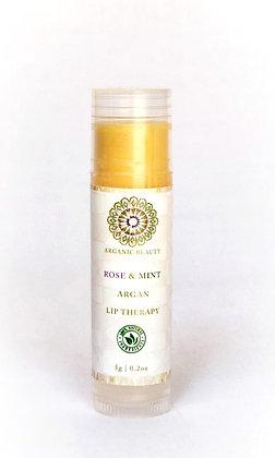 Rose & Mint Argan Lip Therapy