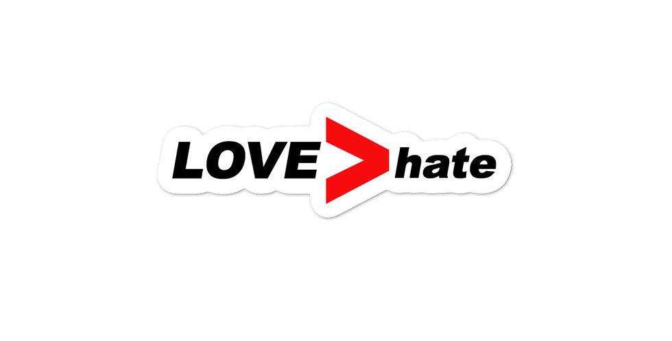 LOVE>hate Bubble-free stickers