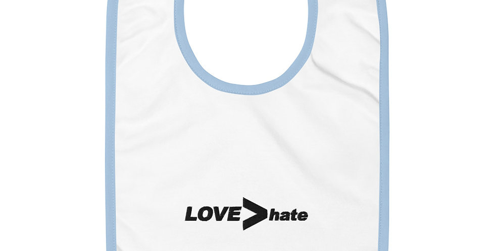 LOVE>hate Baby Bib