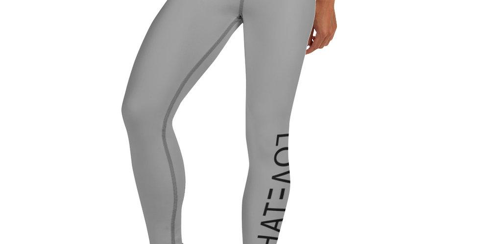 LOV3TAH All-Over Print Yoga Leggings Grey