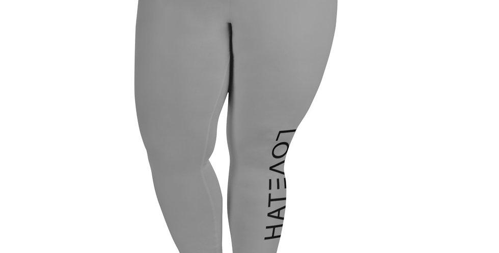 LOV3TAH All-Over Print Plus+ Leggings Grey