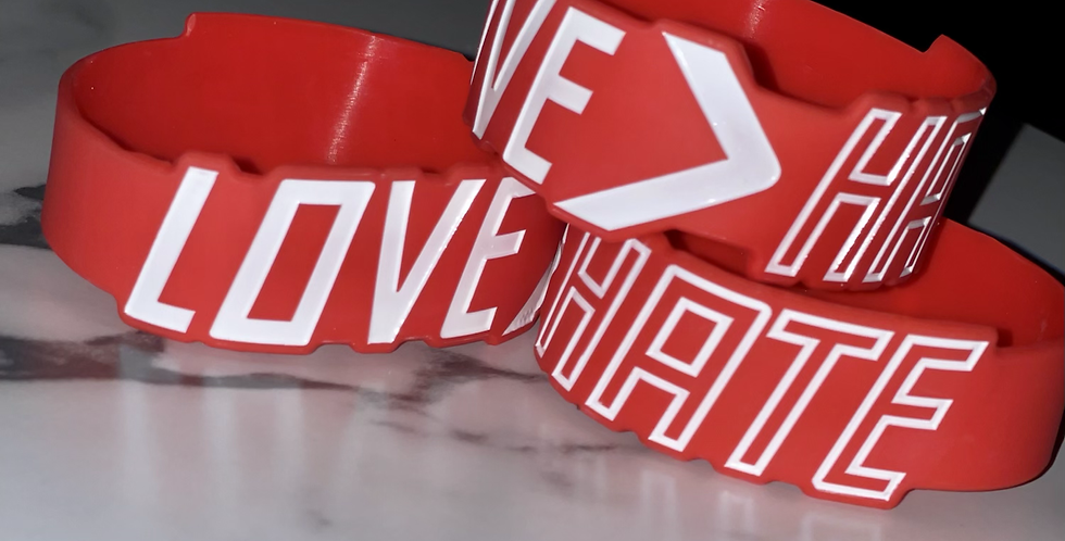 Enlarge LOVE>hate Wristband