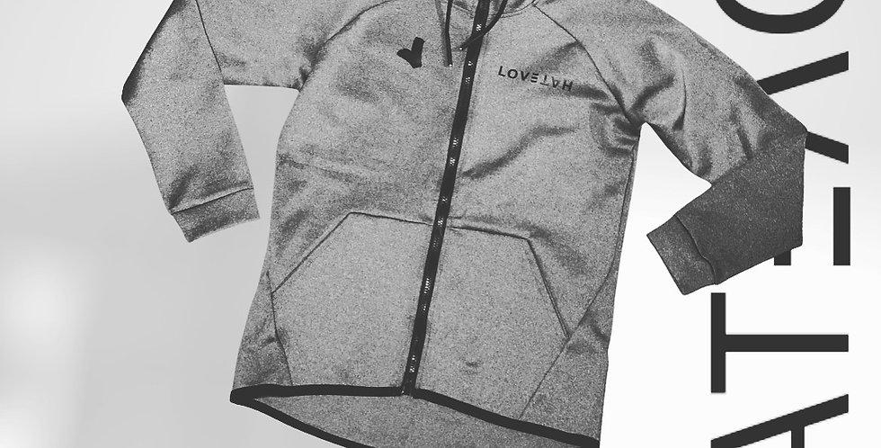 LOV3TAH Full Zip Fleece Grey