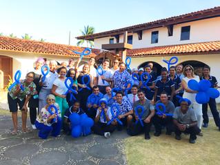Jardim Atlântico Beach Resort em apoio ao Novembro Azul