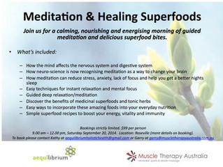 Meditation and nutrition workshop