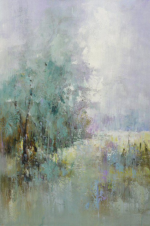 24x36 oil painting on canvas of modern landscape with woods 41970503