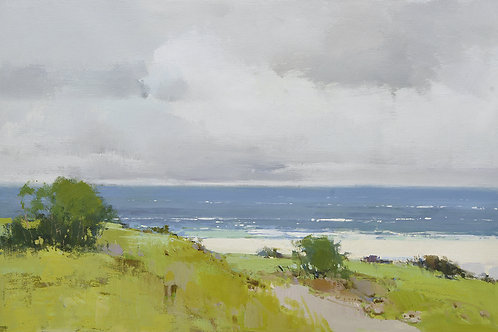 24x36 oil painting on canvas of OCEAN AND BEACH landscape 4191271