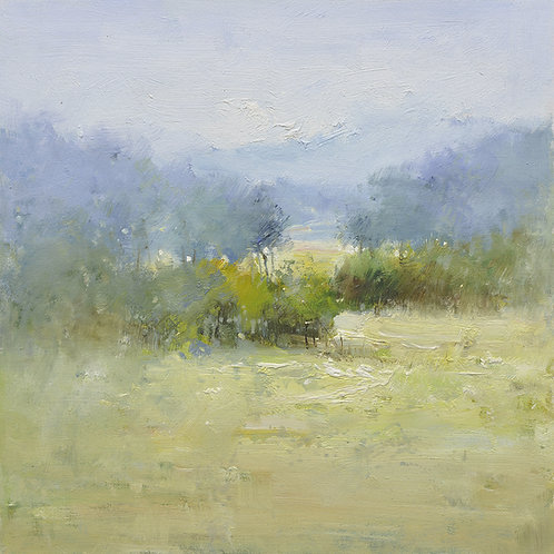 16x16 oil painting of modern landscape by J Zhang 22010505