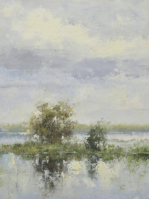20x24 oil painting of modern marsh landscape 32071004