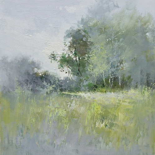 16x16 oil painting on canvas of modern landscape 22010504