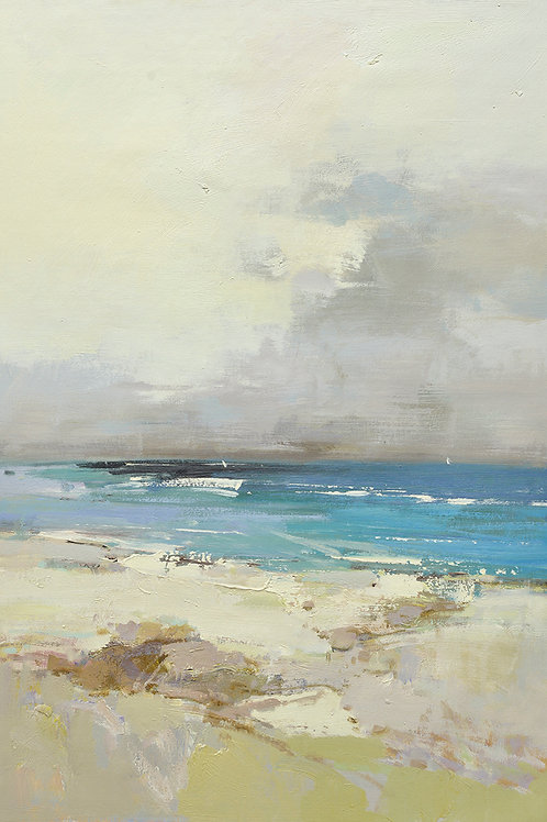 24x36 oil painting of abstract beach on canvas 42071002