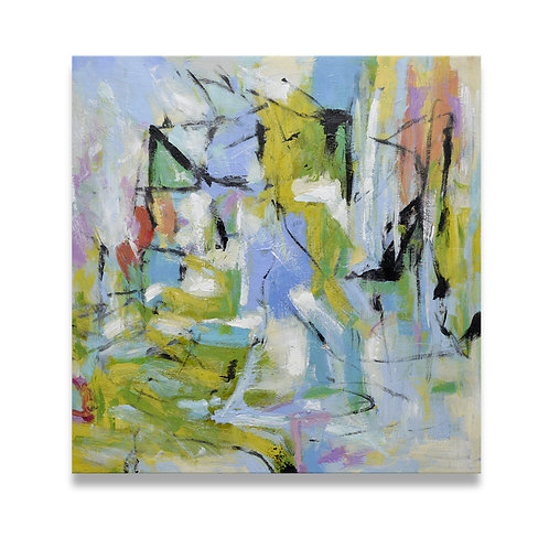 Studio art 35X35 large abstract oil painting S-71912103