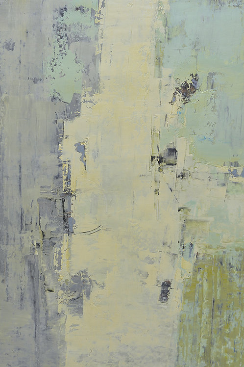 24x36 abstract oil painting on canvas with yellows 4196705