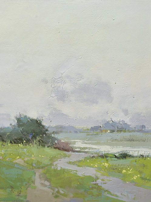 20x24 oil painting of modern abstract field landscape 32071012.