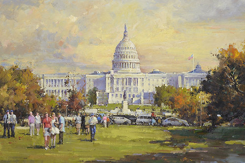 24x36 oil painting on canvas of Washington DC Capital building 413669