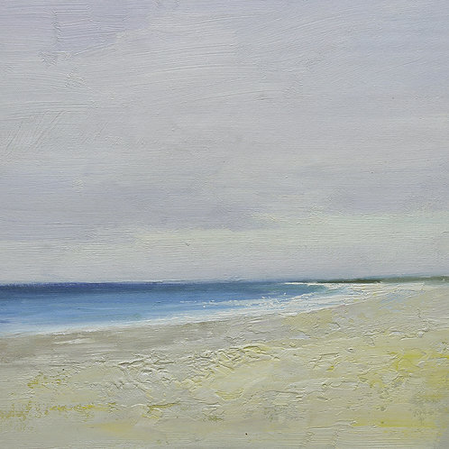 16x16 oil painting on canvas of white sand beach 22010512