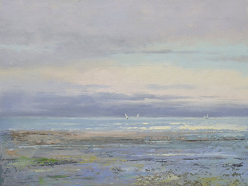 20x24 oil painting of modern sea shore seascape 32071002