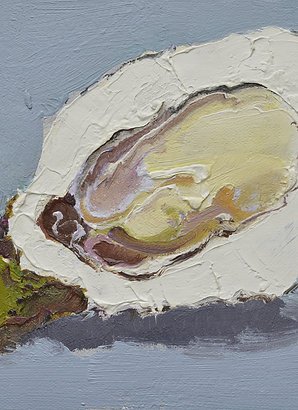 8x10 Modern oil painting of oyster 12071007