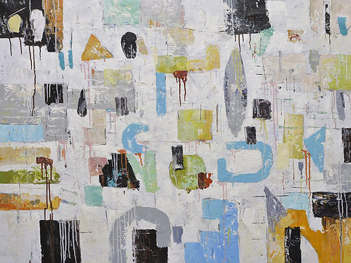 36x48 abstract oil painting on canvas 72071007