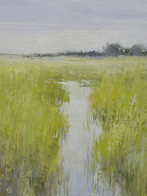 12x16 oil painting on canvas of marsh landscape 22010534