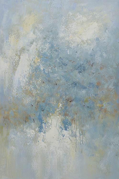 24x36 abstract oil painting on canvas with bluess 4196507
