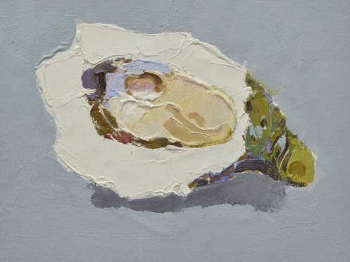 8x10 Modern oil painting of oyster 12071004