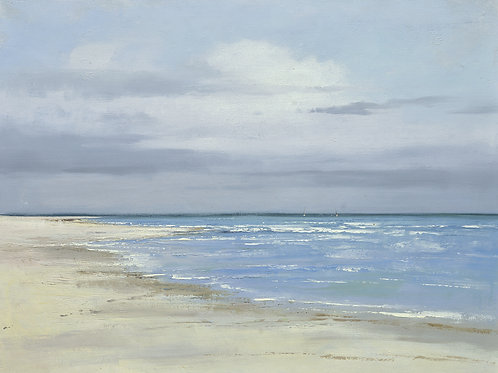 36x48  oil painting of white sand beach and ocean waves 72071034