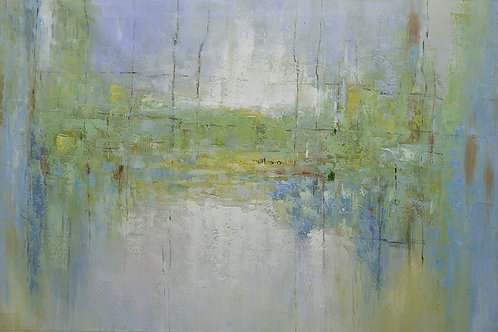 40x60 Large abstract landscape oil painting on canvas 9195027