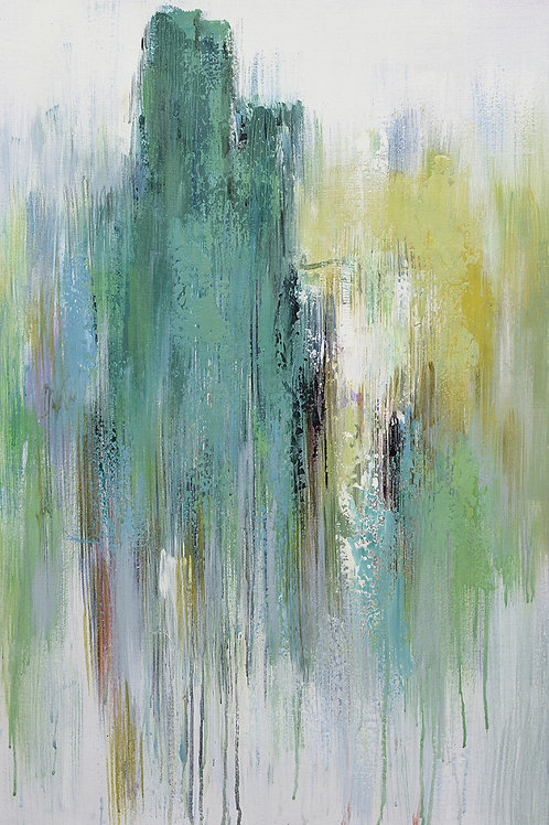 24x36 abstract oil painting on canvas with lots of details 41980201