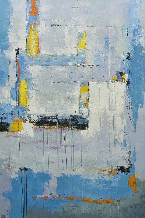 40x60 Large abstract oil painting on canvas 919100628