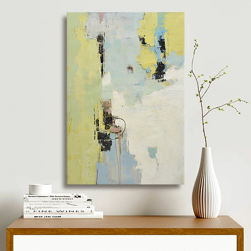24x36 abstract oil painting on canvas with yellows 41992810