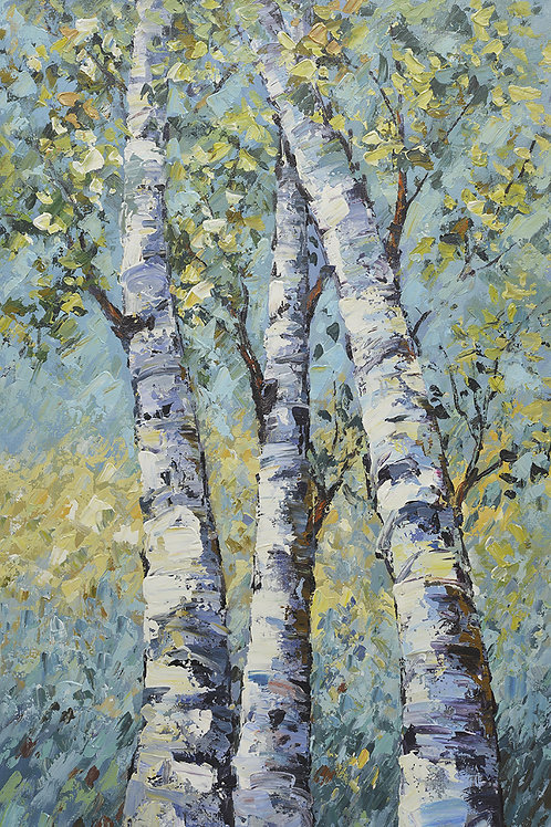24x36 oil painting on canvas of modern landscape & trees 41982604